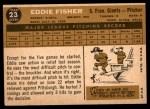1960 Topps #23  Eddie Fisher  Back Thumbnail