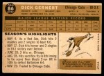 1960 Topps #86  Dick Gernert  Back Thumbnail