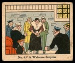 1931 Johnson Candy Dick Tracy R41 #43   Welcome Surprise Front Thumbnail