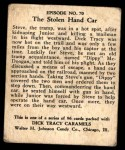1931 Johnson Candy Dick Tracy R41 #70   The Stolen Hand Car Back Thumbnail