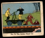 1931 Johnson Candy Dick Tracy R41 #70   The Stolen Hand Car Front Thumbnail