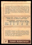 1977 O-Pee-Chee WHA #37  Terry Ruskowski  Back Thumbnail