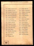 1977 O-Pee-Chee WHA #58   Checklist Card Back Thumbnail