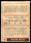 1977 O-Pee-Chee WHA #42  Wayne Wood  Back Thumbnail