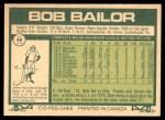 1977 O-Pee-Chee #48  Bob Bailor  Back Thumbnail