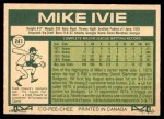 1977 O-Pee-Chee #241  Mike Ivie  Back Thumbnail