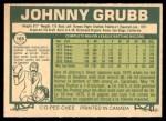 1977 O-Pee-Chee #165  Johnny Grubb  Back Thumbnail
