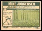 1977 O-Pee-Chee #9  Mike Jorgensen  Back Thumbnail