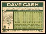 1977 O-Pee-Chee #180  Dave Cash  Back Thumbnail