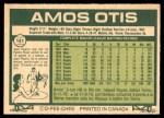 1977 O-Pee-Chee #141  Amos Otis  Back Thumbnail