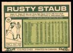 1977 O-Pee-Chee #88  Rusty Staub  Back Thumbnail
