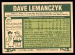 1977 O-Pee-Chee #229  Dave Lemanczyk  Back Thumbnail