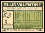 1977 O-Pee-Chee #234  Ellis Valentine  Back Thumbnail