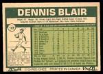 1977 O-Pee-Chee #189  Dennis Blair  Back Thumbnail