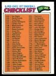 1977 O-Pee-Chee #179   Checklist 133-264 Front Thumbnail