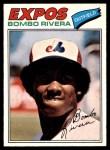 1977 O-Pee-Chee #54  Bombo Rivera  Front Thumbnail