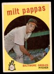 1959 Topps #391  Milt Pappas  Front Thumbnail