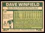 1977 O-Pee-Chee #156  Dave Winfield  Back Thumbnail