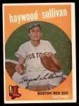 1959 Topps #416 CRL Haywood Sullivan  Front Thumbnail