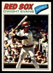 1977 O-Pee-Chee #259  Dwight Evans  Front Thumbnail