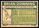 1977 O-Pee-Chee #246  Brian Downing  Back Thumbnail