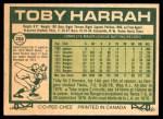 1977 O-Pee-Chee #208  Toby Harrah  Back Thumbnail