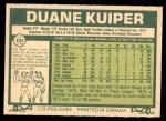 1977 O-Pee-Chee #233  Duane Kuiper  Back Thumbnail