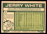 1977 O-Pee-Chee #81  Jerry White  Back Thumbnail