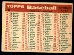 1959 Topps #94   White Sox Team Checklist Back Thumbnail