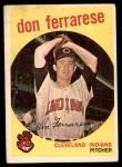 1959 Topps #247  Don Ferrarese  Front Thumbnail
