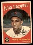 1959 Topps #93  Julio Becquer  Front Thumbnail