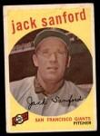 1959 Topps #275  Jack Sanford  Front Thumbnail