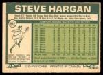 1977 O-Pee-Chee #247  Steve Hargan  Back Thumbnail