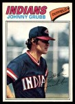 1977 O-Pee-Chee #165  Johnny Grubb  Front Thumbnail