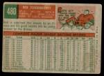 1959 Topps #480  Red Schoendienst  Back Thumbnail