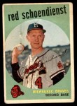 1959 Topps #480  Red Schoendienst  Front Thumbnail