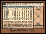 1978 O-Pee-Chee #115  Milt May  Back Thumbnail