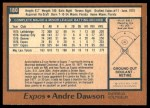 1978 O-Pee-Chee #180  Andre Dawson  Back Thumbnail
