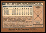 1978 O-Pee-Chee #143  Al Cowens  Back Thumbnail