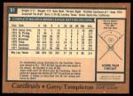 1978 O-Pee-Chee #51  Garry Templeton  Back Thumbnail