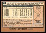 1978 O-Pee-Chee #19  Jim Barr  Back Thumbnail