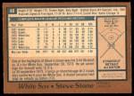 1978 O-Pee-Chee #46  Steve Stone  Back Thumbnail