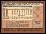 1978 O-Pee-Chee #21  Eric Soderholm  Back Thumbnail