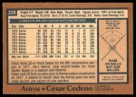 1978 O-Pee-Chee #226  Cesar Cedeno  Back Thumbnail