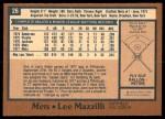 1978 O-Pee-Chee #26  Lee Mazzilli  Back Thumbnail