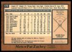 1978 O-Pee-Chee #172  Pat Zachry  Back Thumbnail
