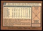 1978 O-Pee-Chee #154  Eddie Murray  Back Thumbnail