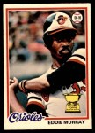 1978 O-Pee-Chee #154  Eddie Murray  Front Thumbnail