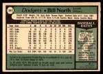 1979 O-Pee-Chee #351  Bill North  Back Thumbnail