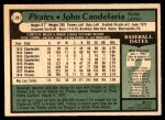 1979 O-Pee-Chee #29  John Candelaria  Back Thumbnail